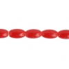 Rosary Beads 8X5mm Plastic Opaque Red